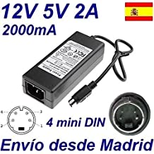 Cargador Corriente 12V 5V 2A 4 PIN MINI DIN Reemplazo LACIE by F.A. Porsche Design IDE 500GB Recambio Replacement