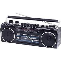 Trevi RR 501 BT Radio Registratore a Cassette con Bluetooth e Funzione Encoding, Nero