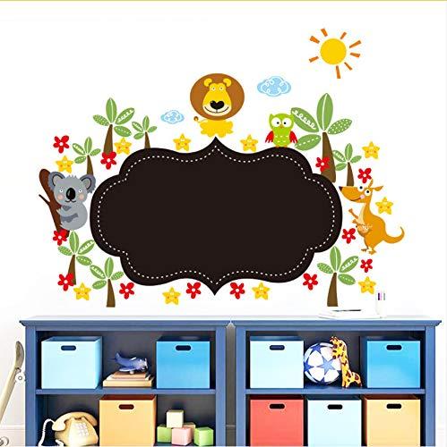 Wc-asdcc Dschungel Wilde Tier Tafel Wandaufkleber Für Kinderzimmer Ziehen Kindergarten Kreide Bord Wohnkultur Cartoon Wandtattoos Tapete Kunst