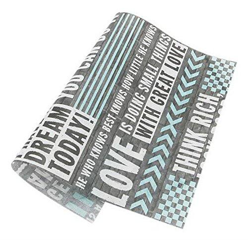 50 Blatt Grau Englisch Muster Öldicht Backen Kraftpapier Essen Platte Tablett Papier