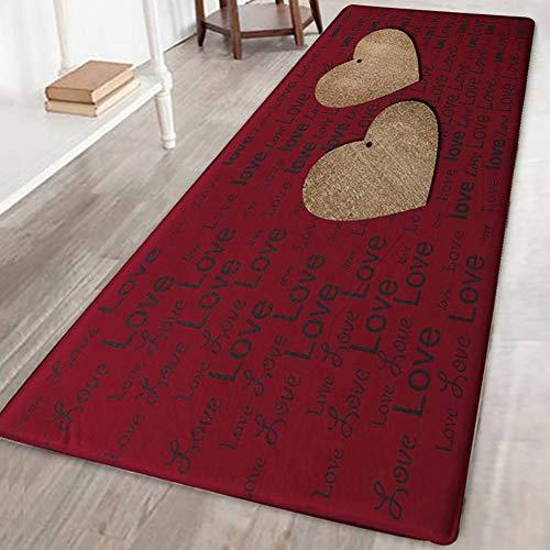 Bornbayb tappetini da bagno stampati in flanella stampata 3d tappeti da bagno antiscivolo morbidi e lavabili tappetini lunghi per soggiorno camera da letto cucina 60x180cm