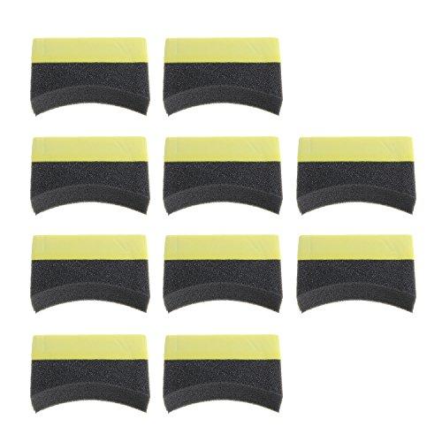 Dressing Schwamm (MuZuZi Auto Reifen Pinsel Schwamm Reifen Dressing Applikator gebogene Schaumstoff Schwamm Pad (10))