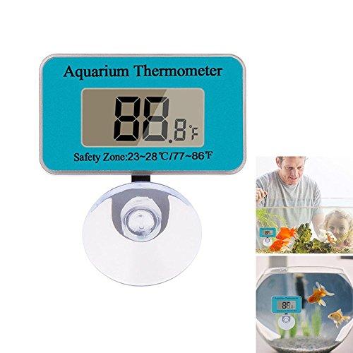 ZREAL Mini Digital LCD Thermometer Aquarium Fisch Tank Temperatur Meter Saugnapf