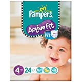 Pampers active Fit Taille 4 (9-20kg) Carry Paquet 6x24 Maxi par paquet