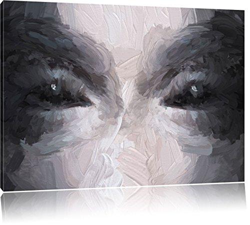 Kunst Pinsel Effekt, Format: 100x70 auf Leinwand, XXL riesige Bilder fertig gerahmt mit Keilrahmen, Kunstdruck auf Wandbild mit Rahmen, günstiger als Gemälde oder Ölbild, kein Poster oder Plakat ()