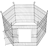 """AQUAPETZWORLD 24"""" X 24"""" Dog and Puppy, Rabbit, Cats Exercise Dog Play Pen Outdoor Back or Front Yard Fences Cage Pen Pet…"""