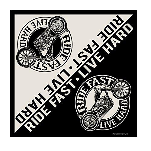 Bandana Stoff Kopftuch Biker Motorrad Ride Fast Harley