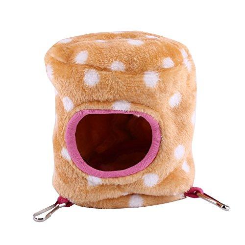 11 × 11cm Ratten Hamster Winter Warm Fleece Hanging Cage Spielzeug Haus 4 Farben Komfortable Bed Room Shelter, Satz von 1 ( Farbe : Brown )