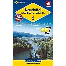 Neuchatel - Val de Travers - Lac de Morat / Neuenburg - Val de Travers - Murtensee. 1 : 60 000. Wanderkarte: Sehenswürdigkeiten. Unterkunft und ... ... Neu mit Index (Kümmerly+Frey Wanderkarten)