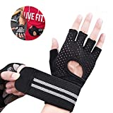 NNIUK Weight Lifting Gloves with Wrist Support Skid Resistance Breathable Fitness Training Bodybuilding Sports Gloves for Men Ladies