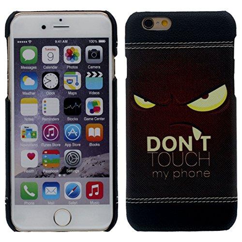 iPhone 6S Plus Coque Mince et Léger, Dur Plastique 3D Grain Peinture Motif Style ( Chat noir ) Beau Housse de Protection Case pour Apple iPhone 6 Plus / 6S Plus 5.5 inch noir-3