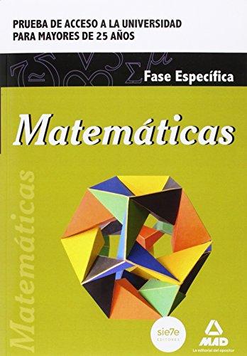 Matemáticas Prueba de acceso a la Universidad