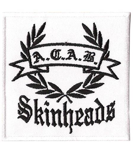 Unbekannt A.C.A.B. Skinheads - Aufnäher, Farbe: Weiß/Schwarz