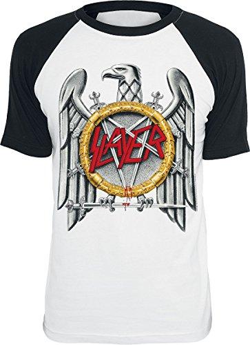 Slayer Eagle T-Shirt Weiß/Schwarz M (Eagle Slayer)