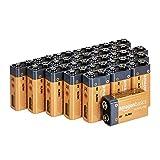 AmazonBasics - Batterie alcaline Everyday da 9 Volt (confezione da 24)