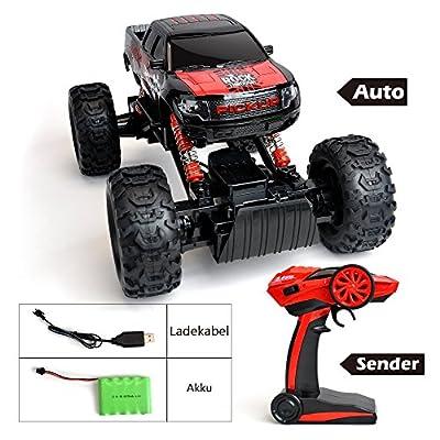 Maximum RC Ferngesteuertes Auto für Kinder - 4WD Monstertruck - XL RC Auto für Kinder ab 8 Jahren - Rock Crawler (rot) von Maximum RC