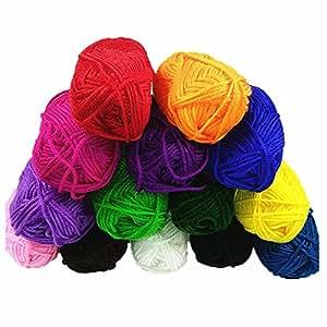 CHEEFULL 100% acrilico 14 matasse Mini Bonbon filato per lavorare a maglia Crochet Craft