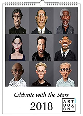 artboxONE Kalender 2018 Celebrating with the stars von Rob Snow Wandkalender A3 Film