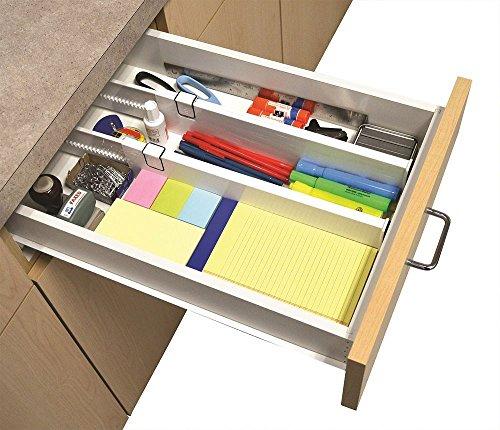 """Newsbenessere.com 5131-HUf9LL Bstcentelha regolabile cassetto organizzatore divisori per cucina o cassettiera S/2Snap Fit """"cassetto dividers- trasparente, 2pezzi"""