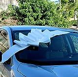GiftWrap Etc. Grand Arc de Voiture Blanc - Décoration de Cadeau avec Un Grand Ruban, entièrement assemblée, 25'de Large, Noël, Anniversaire, Remise des diplômes