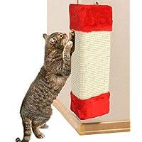 hkfv excelente único impresionante diseño gatos divertidos juguetes gato mascota esquina Sisal Rascador de pared gatos colgante gato rascador Junta garras de Creative divertido para gatos jugando en casa, 23cm x 49cm