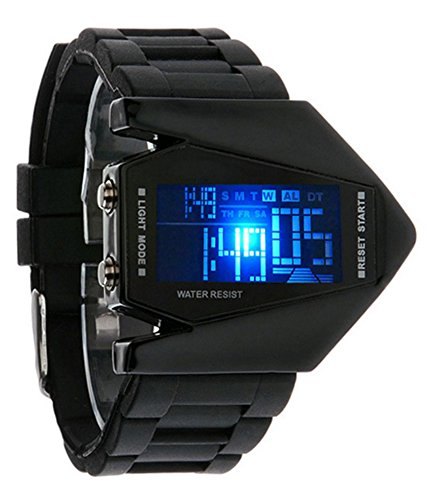 A R Sales Digital Black Dial Boy's Led Watch - Whroc02