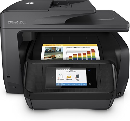 HP OfficeJet Pro 8725 Multifunktionsdrucker (A4, Drucker, Scanner, Kopierer, Fax, HP Instant Ink, WLAN, LAN, NFC, Duplex, HP ePrint, Airprint, Cloud Print, USB, 4800 x 1200 dpi) schwarz