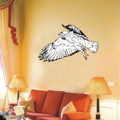 WANDTATTOO w478 Vogel, Adler, Flügel, Flug Wandaufkleber Farbwahl 48 Farben in 3 Größen (Indigo Flug)