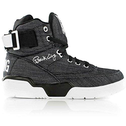 064052ace5e908 Ewing Athletics 33 HI Black Denim White Basketball Schuhe Shoes Mens