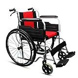 ZGYQGOO Carrello da Viaggio per disabili per Anziani a casa Pieghevole, Leggero, Pieghevole, per disabili, Leggero e Confortevole, a Due posti
