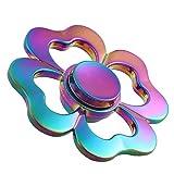 LIYINGKEJI Fidget Hands Spinners farfalla forma fiore liscio Edge Fidget giocattolo stress e riduzione ansia per adulti e bambini regalo perfetto colore arcobaleno immagine