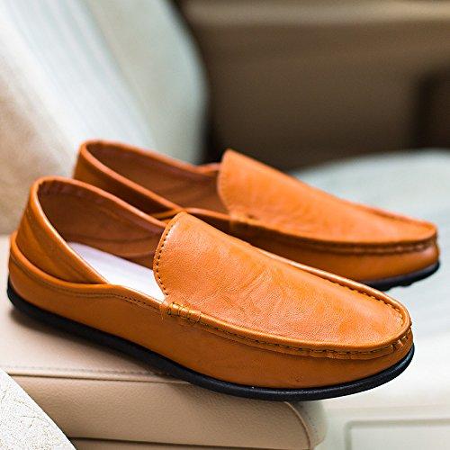 Chaussures Pour Hommes Doug Nouvelle Summer Respirable Chaussures Hommes Au Volant Yellow