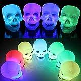 SOLMORE 8CM Crâne LED Changement de Cou...