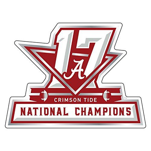 Alabama Crimson Tide Magnet, 2017 National Champions Car Magnet (3''6''12''), 3