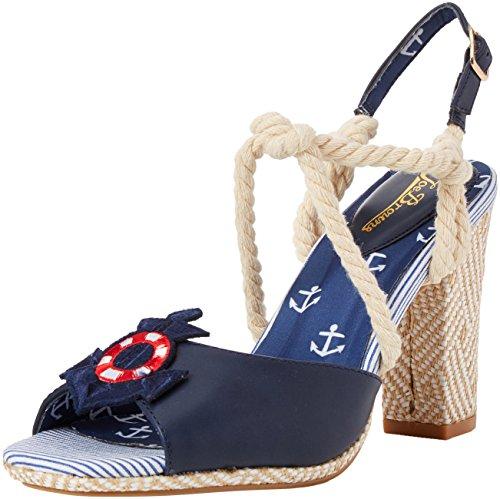 Joe Browns Damen Bon Voyage Sandals Slingback, Blau (Navy Multi A), 37 EU