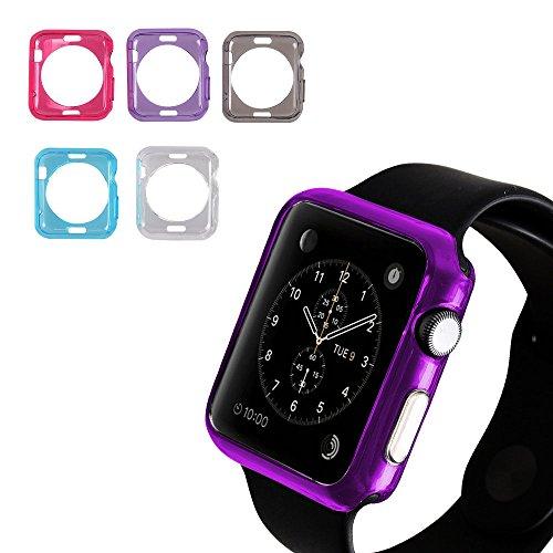 efanr 2Apple Watch Series 2Schutzhülle, Silikon Transparent Full Body Schutzhülle Anti Stößen und Kratzern für Apple Watch iWatch 38mm/42mm (Armband Nano Ipod Classic)