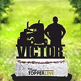 Personalisierte Kuchenaufsatz Trucker Kuchenaufsatz Trucker Geburtstag Kuchen Topper Driver Cake Topper Trucker Party Trucker Decor Name Topper 2107