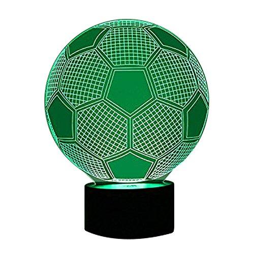 18 Schwarz-licht-lampe (Fußball Fußball LED Schlafzimmer Lampen, 3D-Licht 7 Farb-Touch-Schreibtischlampe Farbe Blinkende Kunst Skulptur Lichter Schlafzimmer Schreibtisch Tisch Nachtlicht)