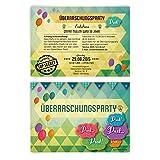 Einladungskarten zum Geburtstag (30 Stück) Überraschungsparty Einladung Party Überraschung