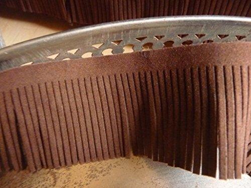 4,99€/m, flecos banda, marrón, imitación ante