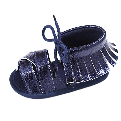 Longra sandali del bambino nappe stringate (size:12, marina militare)