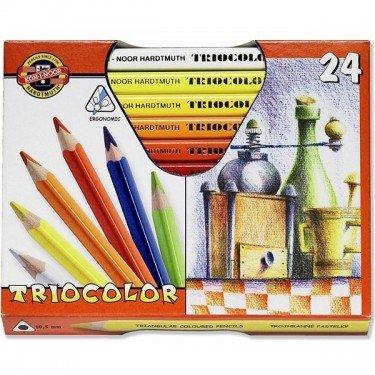 KOH-I-NOOR Triocolor Jumbo Dreieckige Farbstifte 24er Set