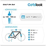 24 Zoll, CoollooK, fahrrad, CULT, Jungen, Unisex, ALLOY, city, Aluminium, Shimano 21 GANG, RH 35cm, Weiß, -