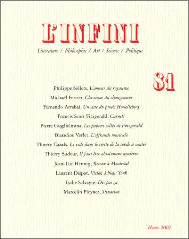 L'Infini, numéro 81 par Collectifs
