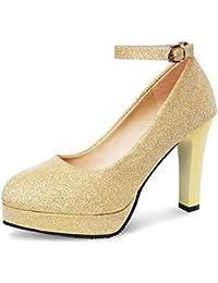 PADGENE - Zapatos de Vestir de Otra Piel Mujer