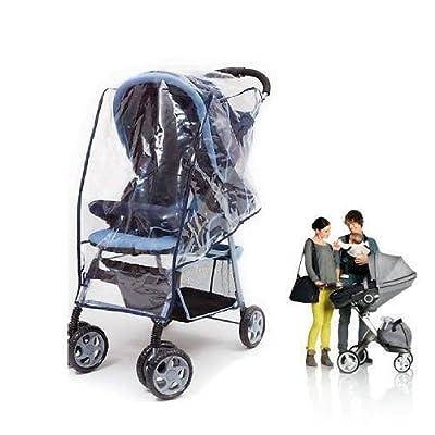 takestop® Plane copripasseggino Kinderwagen Kinderwagen Regen Abdeckung Windschutz 140x 150cm Farbe zufällig