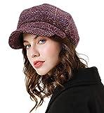 Superora Boinas Mujer Sombreros Gorras Invierno Francesa Tartán Vintage Casual Clásico Caliente Beret Francés Beanie Cozy Enrejado