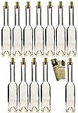 25 leere Glasflaschen