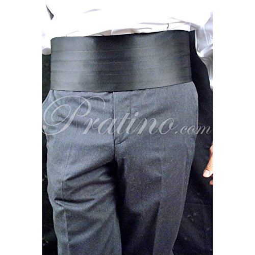 Fascia da Smoking raso nera cintura uomo elegante cerimonia -