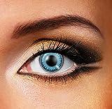 Funky Vision Kontaktlinsen Fusion - 3 Monatslinsen, Blue Grey, Ohne Sehstärke, 1 Stück